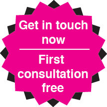 Get in touch now. First consultation free
